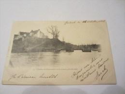 CPA CHATEAU DE CHANTEMILLE SUR LA CREUSE PRES BUSSEAU 1902 - Other Municipalities