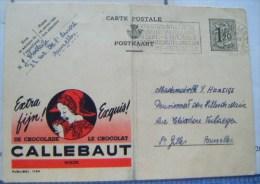 CARTE PUBLIBEL  CHOCOLATERIE CALLEBAUT 1953 - Aalst