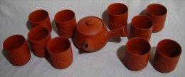 Japanese Terracotta Tea Set - Ceramics & Pottery
