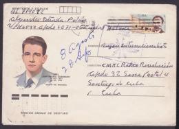 1985-EP-86 CUBA 1985. Ed.197a. ANGOLA WAR. POSTAL STATIONERY. MARTIRES DEL MONCADA. ABEL SANTAMARIA. - Cuba