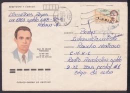 1988-EP-77 CUBA 1988. Ed.206d. ANGOLA WAR. POSTAL STATIONERY. MARTIRES DEL MONCADA. RAUL AGUIAR. - Cuba