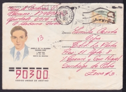 1988-EP-80 CUBA 1988. Ed.206g. ANGOLA WAR. POSTAL STATIONERY. MARTIRES DEL MONCADA. ANGELO DE LA GUARDIA GUERRA. - Cuba