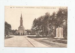 Cp , 14 , DEAUVILLE , Plage Fleurie , L´église Et Le Monument Aux Morts , Militaria , Vierge , Ed : Cap N° 241 - Deauville