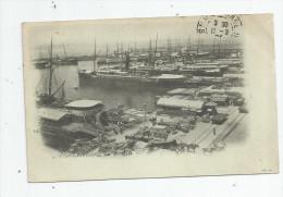 Cp , 13 , MARSEILLE , La JOLIETTE , Port , Bateaux , Dos Simple , Voyagée 1902 - Joliette, Port Area