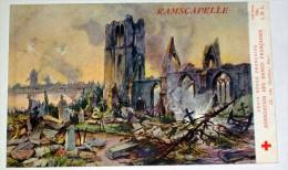 Ramscapelle ( Nieuport ) WW1 CPA Illustrée Par Fraipont Croix Rouge Villes Martyres Ruines De Guerre - Nieuwpoort