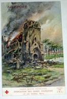 Nieuwpoort ( Nieuport ) WW1 CPA Illustrée Par Fraipont Croix Rouge Villes Martyres Ruines De Guerre - Nieuwpoort