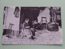 MOLL SLUIS Boerenwoning Binnenzicht ( Copie Van Postkaart ) ( Zie Foto Voor Details ) ! - Mol