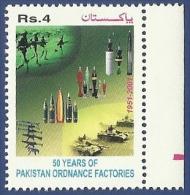 PAKISTAN 2001 MNH GOLDEN JUBILEE OF PAKISTAN ORDNANCE FACTORIES WAH - Pakistan