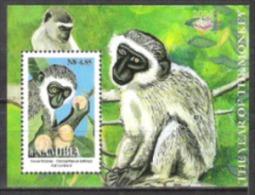 Namibia Südwestafrika SWA 2004 Tiere Animals Fauna Affen Monkeys Meerkatzen Wildlife Horoskop Neujahr, Bl. 59 ** - Namibia (1990- ...)