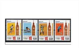 Sri Lanka 2012 MNH London Olympics 4v Set Olympic Games Tennis Swimming Rifle - Sri Lanka (Ceylon) (1948-...)