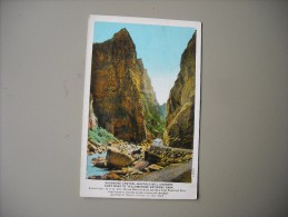 ETATS UNIS WY WYOMING SHOSHONE CANYON BUFFALO BILL COUNTRY CODY ROAD TO YELLOWSTONE NATIONAL PARK - Yellowstone