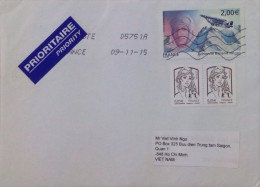 France French Cover With Airplane Stamp (3076) - Storia Postale