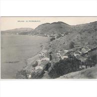 MLGTP1563-LFTD4603.Tajeta Postal De Malaga.Edificios,arboles,mar,playa Y BARRIO DE PEDREGALEJOS En MALAGA - Málaga