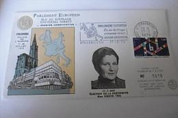 Envel. Obl. Parlement Européen Strasbourg 17/07/1979 - Numéroté 678/1700 - Marcophilie (Lettres)