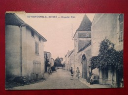 71 Saone Et Loire Cpa St SAINT GENGOUX DE SCISSE Grande Rue - Sonstige Gemeinden