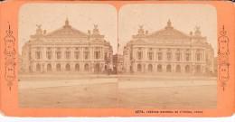 Vieille Photo Stereoscopique Vers 1870 Theatre National De L Opera Paris Collec BK - Stereoscopic