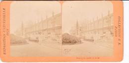 Vieille Photo Stereoscopique Vers 1870 Collection BK Paris Expo Universelle 1878 Palais Du Champ De Mars - Stereo-Photographie