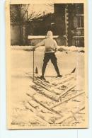 Sports D'Hiver : La Ski, La Marche En V. 2 Scans. Edition Margerit Le Puy - Sports D'hiver