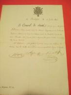 Certificat De Bonne Conduite/Ecole De Médecine Navale De Rochefort/Le Conseil De Santé/Charente/1816   DIP59 - Documents