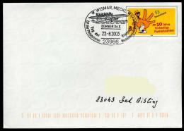 36972) BRD - Ganzsache USo 61 - SoST 23966 WISMAR, MECKL Vom 28.08.2003 - Tag Der Briefmarke, Dornier Do X - [7] Federal Republic