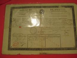 Congé De Licenciement/Royaume De France/Bataillon D'Ouvriers D'Administration/CaporalBaudot/Cahors/1824   DIP64 - Documents