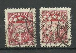 LETTLAND Latvia 1927 Michel 119 Y + Z O NB! Eine Marke Hat Vertically Ribbed/geriffeltes Papier !! - Lettonia