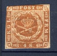 ##Denmark 1854. Michel 4. MH(*). Cut. - 1851-63 (Frederik VII)