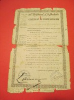 Certificat De Bonne Conduite/66éme RI/ Chesnay Soldat De Seconde Classe/Cahors/1888   DIP75 - Documents