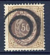 ##Denmark 1875. Michel 30 II. Used. Reversed Frame. - Used Stamps
