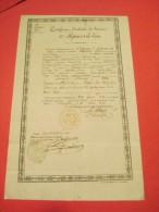 Certificat D'activité De Service/56éme RI De Ligne/Oléron /Oloron/ Basses Pyrénées/Boulanger/Montauban/1829   DIP77 - Documents