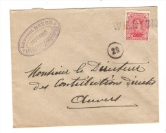 TP 138 S/L.du Notaire Meeus Annulé Par La Griffe De Fortune Wilryck V. Anvers C.d'arrivée PR2572 - Postmark Collection