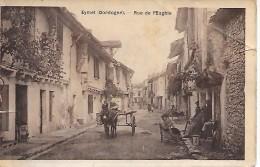 EYMET  ( 24 )  -  Rue De L' Eglise   ( Carte Glacée , Dans L´état  ) Cachet  Hôpital Bénévole No 25  - 1915 - France