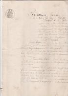 Manuscrit 4 Pages 8/7/1877  ST JOACHIM Loire Atlantique - Prêt Solidaire - Filigrane 1875 - Timbre Fiscal - Manuscripts