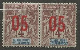 GUADELOUPE N� 72 EN PAIRE NEUF** LUXE  SANS  CHARNIERE / MNH
