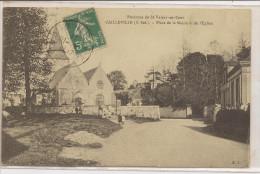Cailleville   Place De La Mairie Et De L'Eglise - Autres Communes