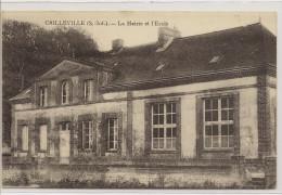 Cailleville    La Mairie Et L'ecole - Autres Communes