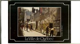 Mess Presse Benjamin- Photo E.Otto-La Ville De Quebec - La Rue Du Trésor- 2 Timbres Parliament 37-cachet 1988 - Quebec