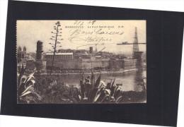Marseille . Le Fort St Jean . Circulée 1918 - Joliette, Port Area