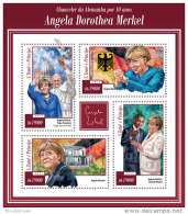 SAO TOME 2015 ** M/S Angela Merkel Barack Obama Pope Francis - Official Issue A1514 - Autres