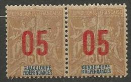 GUADELOUPE N� 73 EN PAIRE NEUF** LUXE  SANS  CHARNIERE / MNH