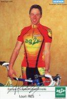 3184  Cyclisme  CP Dédicacée  Lauri Aus - Cycling