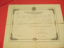 Brevet De Pension/Grand Chancelier Ordre Impérial Légion Honneur /Pension Complémentaire/Ploenné/C Du N/ 1870    DIP94 - Army & War