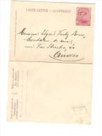 CL 10 C Albert I Annulée Par La Griffe De Fortune Estinnes Et écrite De Estinnes 2/12/1918 V.Anvers PR2577 - Postmark Collection