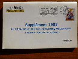CATALOGUE DES OBLITÉRATIONS MÉCANIQUES  A FLAMMES ILLUSTRÉES OU STYLISÉES ++ - Briefmarken