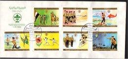 YEMEN ARAB REPUBLIC - 1980 - SCOUTISMO - SCOTT 367/370 C56/58 FDC - Covers & Documents
