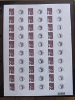 FEUILLE DE 30 MARIANNE DE LUQUET 1.11€ Brun Prune REF: YT N° 3729C C=450 LOGO CERES - France