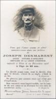 Y08 / IMAGE PORTRAIT PRIERE MILITAIRE DECEDE J.DESMARET OFFICIER ARTILLERIE En 1928 à 58 Ans     7 X 11.5 CM Environ - Décès