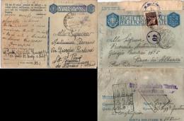 Biglietto Postale E Cartolina Per Le Forze Armate Da PM 91 Per Piana Degli Albanesi  07 - 1900-44 Vittorio Emanuele III