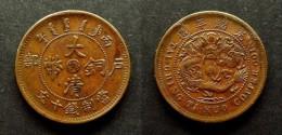 CHINA - RARE 10 CASH  COPPER - HUPEH  PROVINCE -  HUBEI  -  DYNASTIE QING    HU-PEH CHINE - China