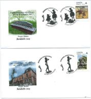 SPANIEN SPAIN ESPAÑA 2015 BASQUE COUNTRY STAMP EXHIBITION EUSKOPHIL (BARAKALDO) WITH PERSONALISED STAMPS - FDC